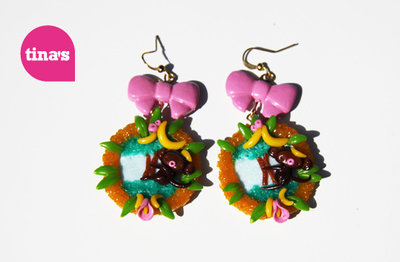 Earrings Monkey Landscape