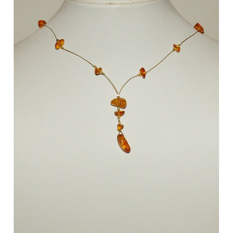 Collanina filo ambra