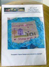 Cross stitch Chart - Love is where sheeps are - by G.O. Designs