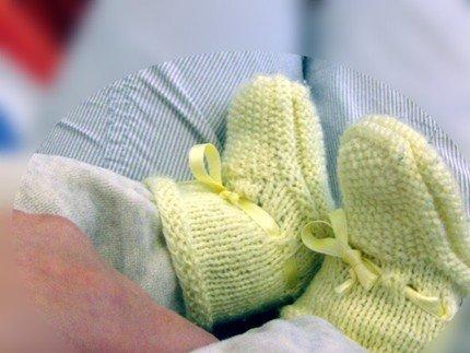 Grandma's Knitting Baby Booties 2 -- PDF pattern
