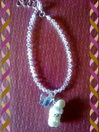 bracciale bianco in swarosky