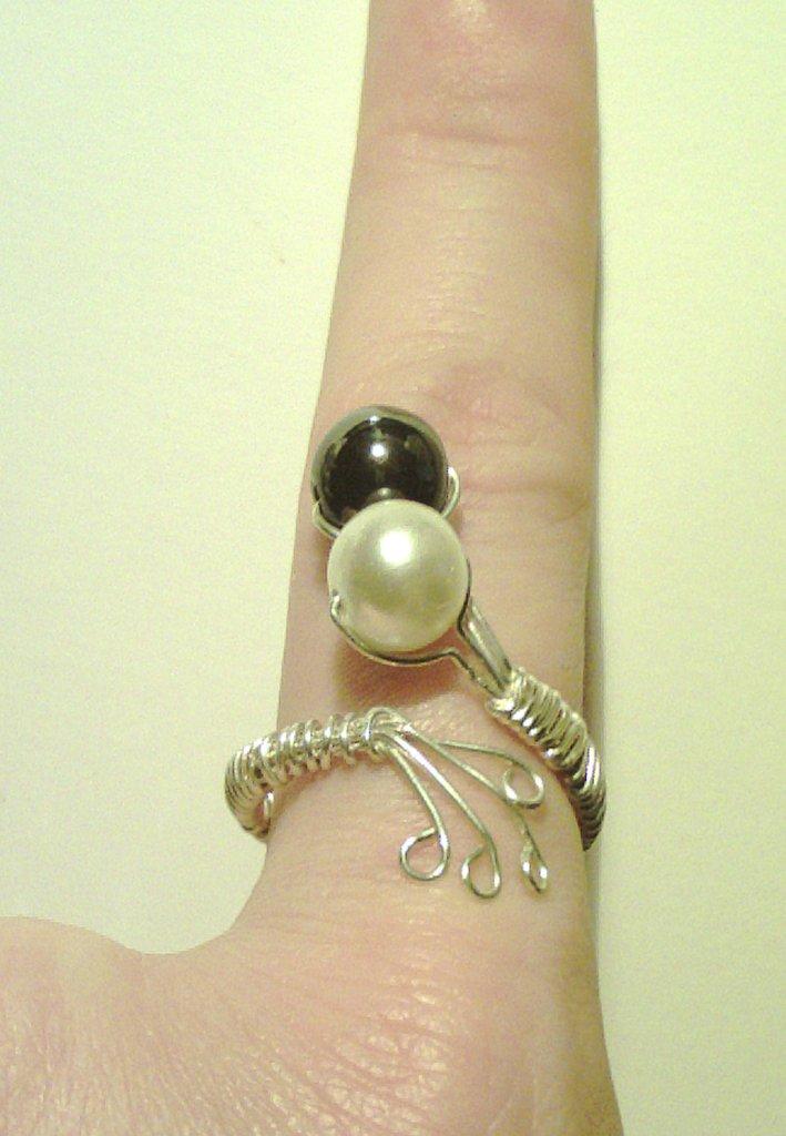 "anello ""black&white"""