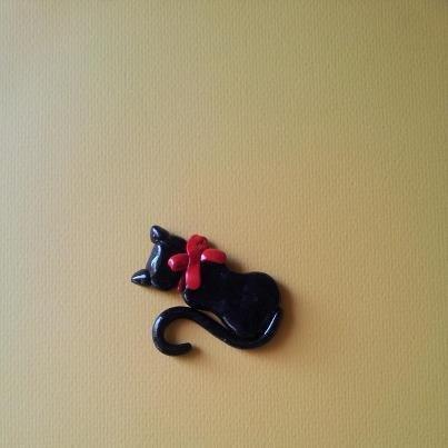 Magnete gatto nero