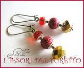 """Orecchini """"Rosso ORo Perle"""" Idea regalo natale 2012"""