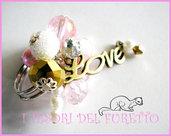 """Anello """"Love Rosa Oro"""" Bronzo perle idea regalo Natale 2012"""