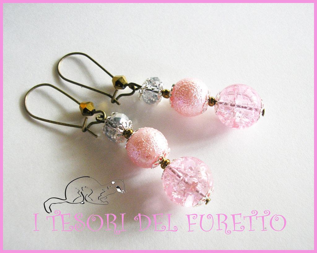 """Orecchini """"Rosa ORo Perle"""" Idea regalo natale 2012"""