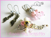 """Parure """"Love Rosa Oro"""" orecchini anello idea regalo SAN VALENTINO"""