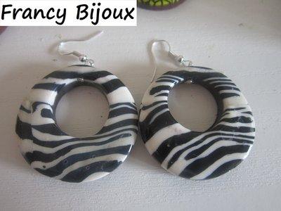 orecchini zebrati