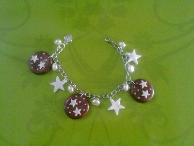 Bracciale pan di stelle con stelline