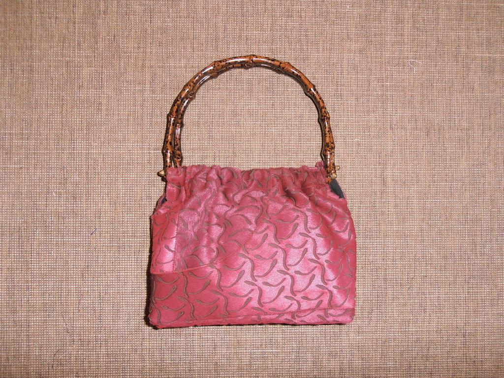 B10 borsa in pelle di cavallino laserata bordeaux---------bordeaux lasered horse leather handbag