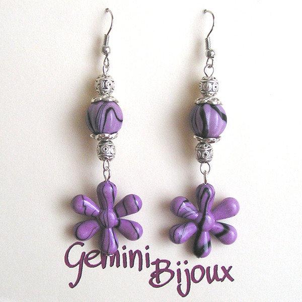 Orecchini acrilico purple
