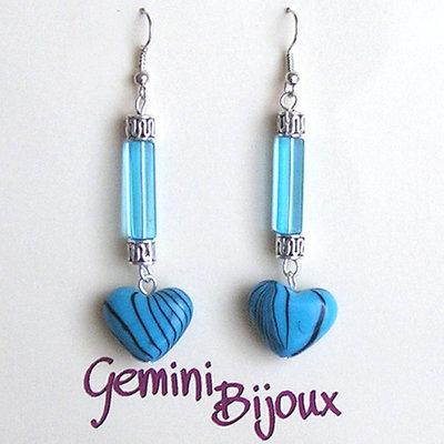 Orecchini acrilico azzurri