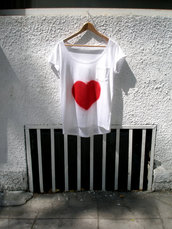 Hand Painted Love T Shirt