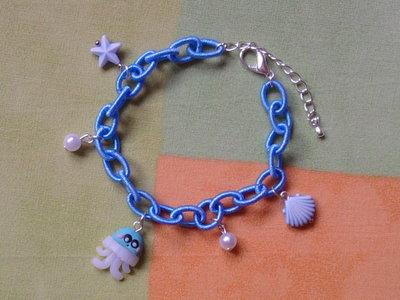 Braccialetto con perle e medusa fimo