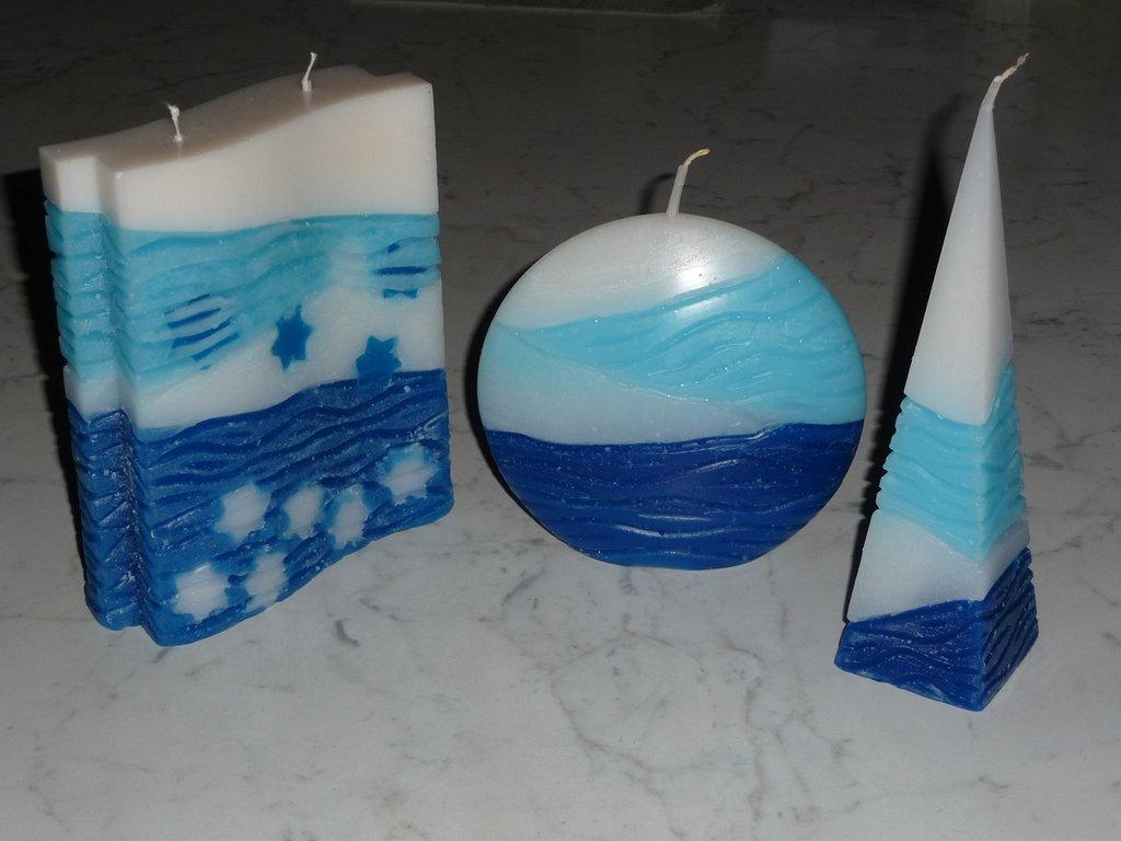Trio di candele marinare