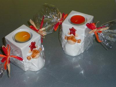 Portacandele in ceramica