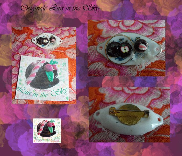 spilla vassoio porcellana/cernit