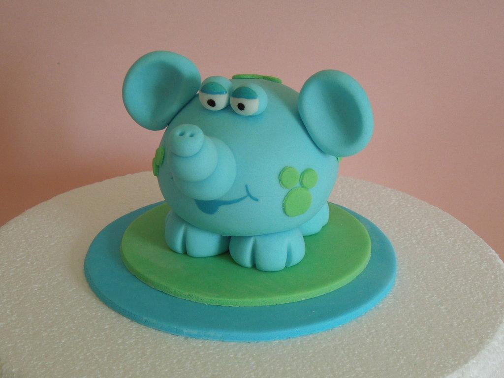cake topper elefantino