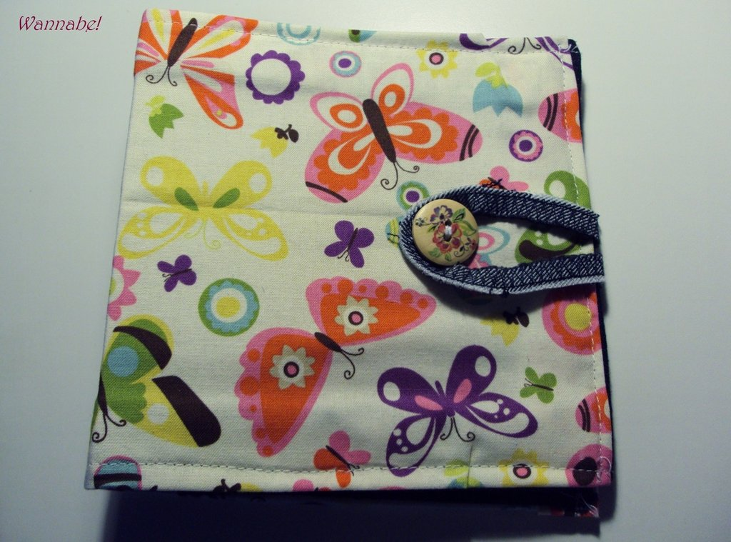 Porta cd farfalle in stoffa