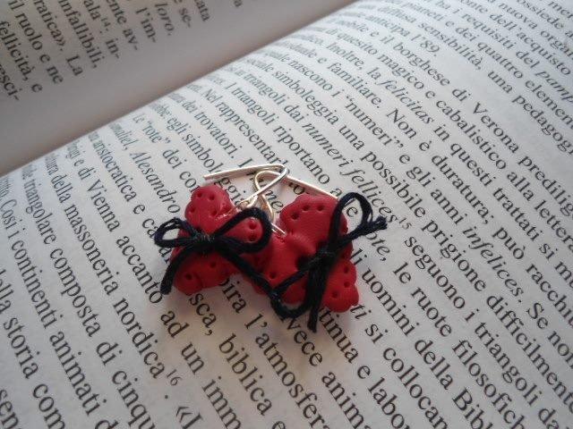 orecchini cuore fiocchetto