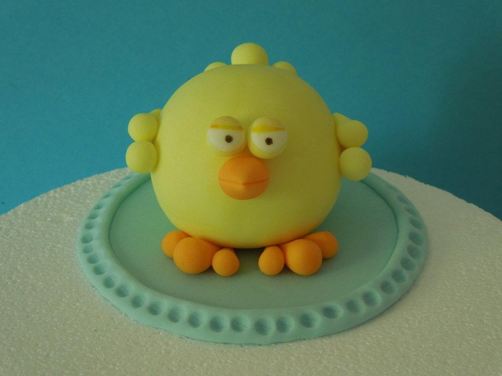 cake topper pulcino