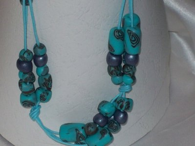 Collana con murrine turchese