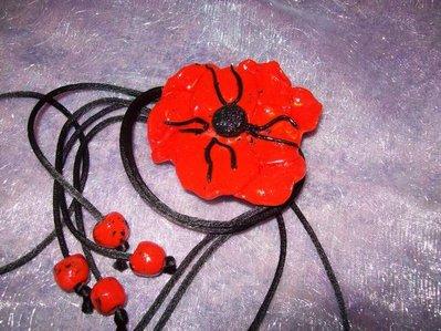 Collana Papavero Rosso