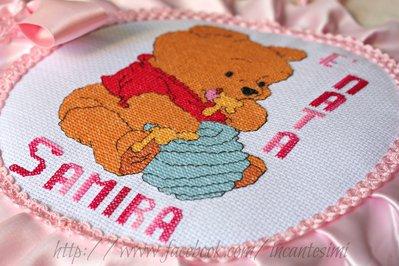 Cicogna fiocco nascita winnie the pooh