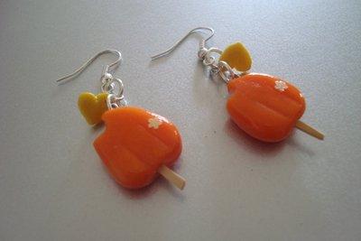 Orecchini ghiacciolini arancione