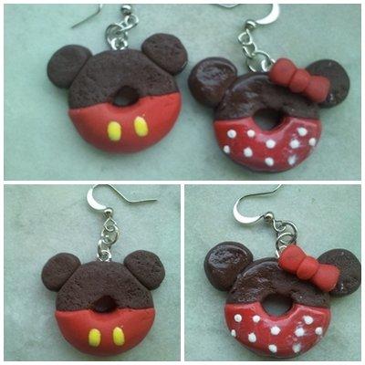 Orecchini Mikey mouse donut
