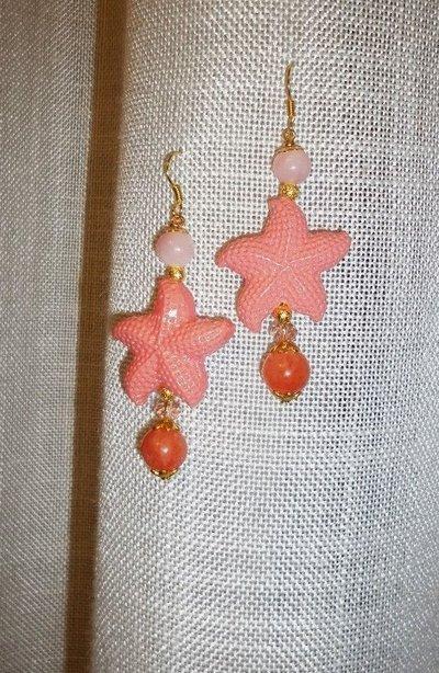 orecchini stella marina rosa