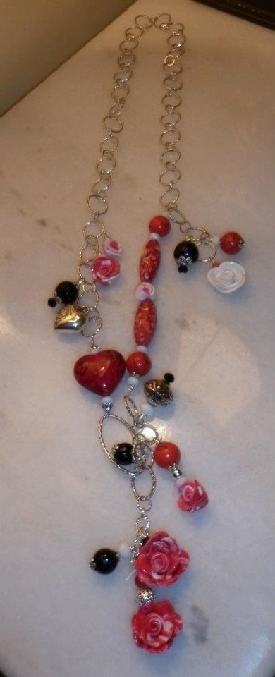 collana rosso cuore