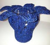 Porta tealight a fiore blu