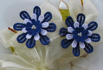 orecchini fiore clips