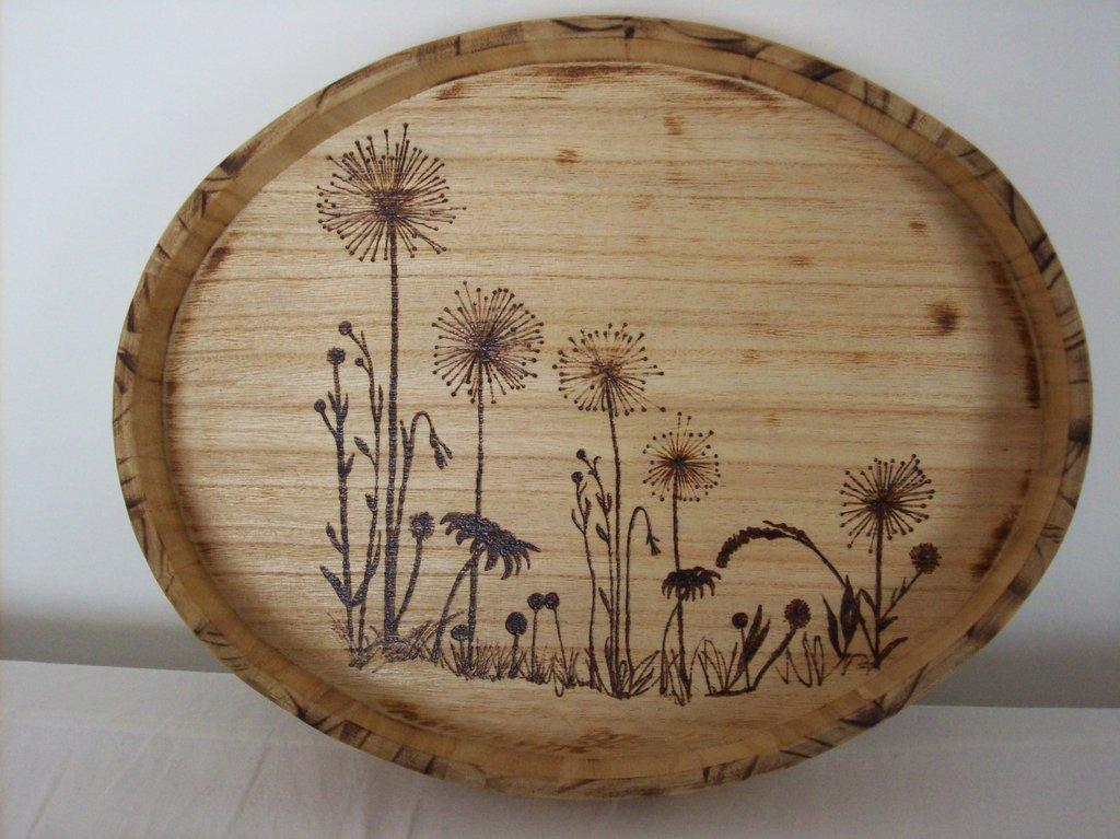 Vassoio ovale in legno