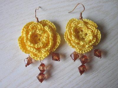 Orecchini roselline con perle