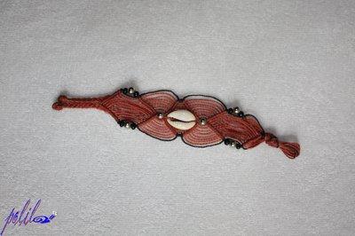 braccialetto largo rosso bordeaux