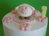 decorazioni per torta- set pecora