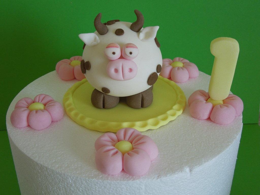 decorazioni per torta-set mucchina