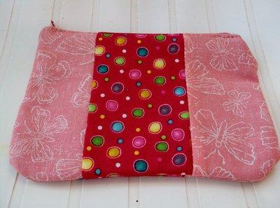 Astuccio in stoffa fucsia/rosa, porta cellulare, iPod, mp3