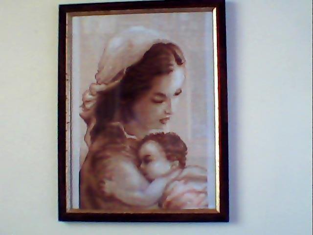 Quadro Mamma con Bambino (punto croce)