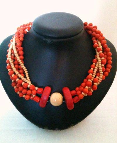 Collana etnica arancione