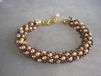 Bracciale spirale turca perle e conterie
