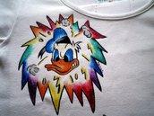 Maglietta donna dipinta a mano PAPERO