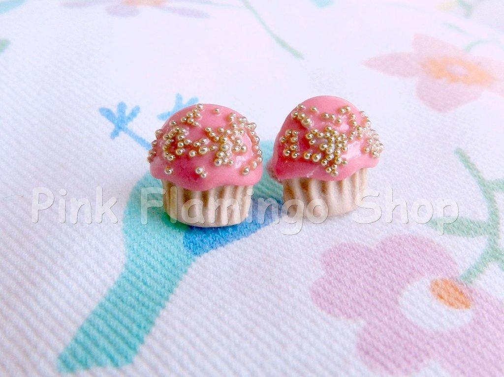 orecchini cupcake a lobo in Fimo