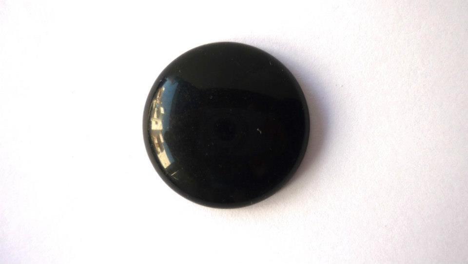 Cabochon in pietra dura, Black Stone.  Diametro: 26 mm.