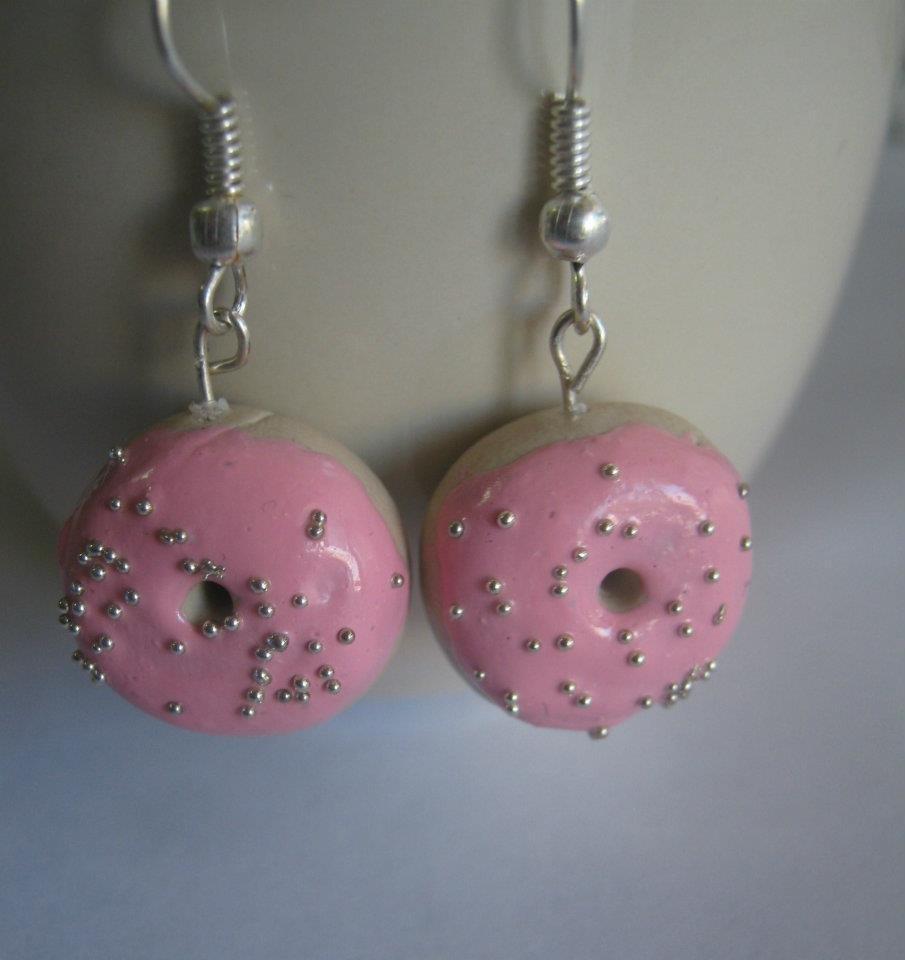 orecchini ciambella rosa