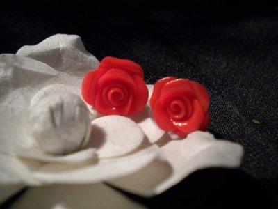 orecchini lobo rose