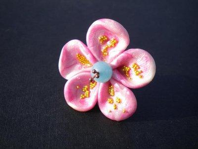 anello fiore rosa