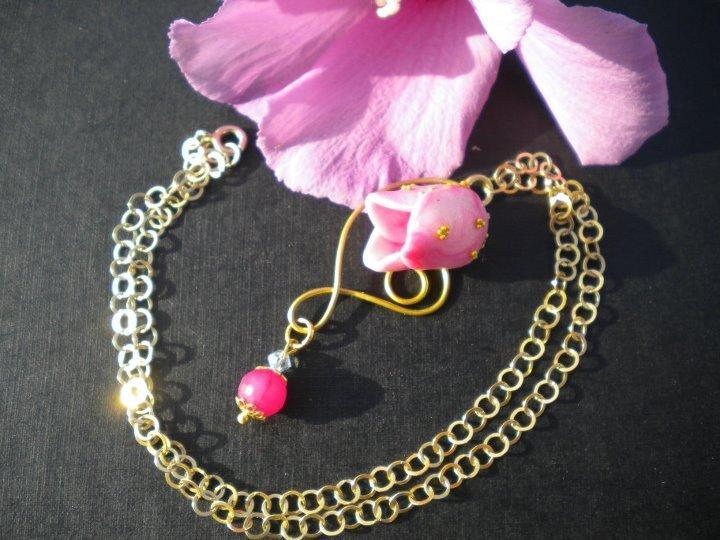 pendente tulipano rosa
